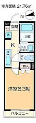 Housekul KT2 1階1Kの間取り