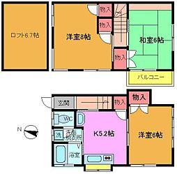 [テラスハウス] 千葉県松戸市高塚新田 の賃貸【/】の間取り
