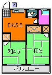吉野ハイツ(海楽)[2階]の間取り
