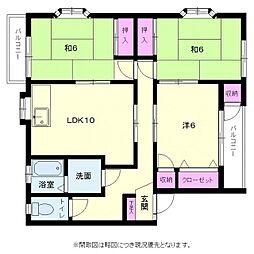 福岡県福岡市博多区板付4丁目の賃貸アパートの間取り