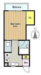 小島ハイツ2号[1階]の間取り