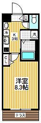 東京都中野区上鷺宮1丁目の賃貸マンションの間取り