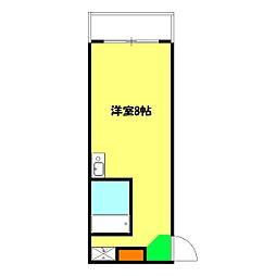 浦島ハイツ[201号室]の間取り