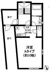 東京都世田谷区上馬4丁目の賃貸マンションの間取り