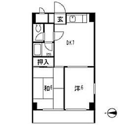 東京都練馬区貫井2丁目の賃貸マンションの間取り