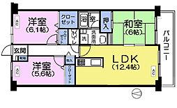 カサベルデ石神井台[3階]の間取り