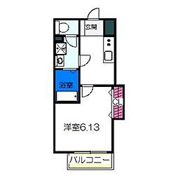 Fstyle田井城1号館 1階1Kの間取り