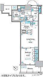パークアクシス豊洲キャナル 16階1LDKの間取り