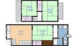 [テラスハウス] 大阪府堺市東区白鷺町1丁 の賃貸【/】の間取り