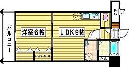 ロイヤル神屋[605号室]の間取り