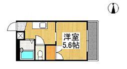 リトルハイツ上瀬No.5[5階]の間取り