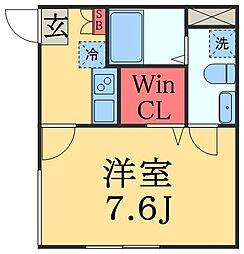 千葉県千葉市中央区要町の賃貸アパートの間取り