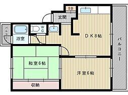 東亜マンション[4階]の間取り