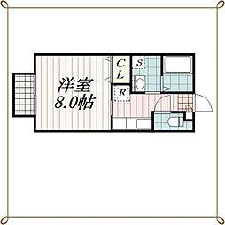 千葉県千葉市中央区新千葉3丁目の賃貸アパートの間取り
