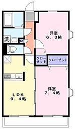 ゼンニム2[2階]の間取り