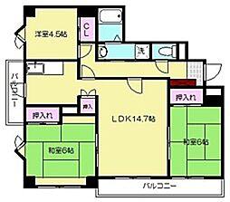 パークハイム東光寺[5階]の間取り