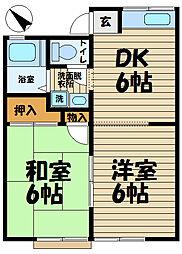 ノース鎌倉ハイツ[103号室]の間取り