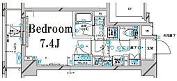 メインステージ板橋本町駅前II 8階1Kの間取り