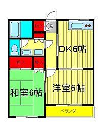 ガーデン戸部[2階]の間取り