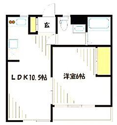 神奈川県横浜市青葉区美しが丘5丁目の賃貸マンションの間取り