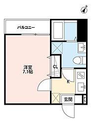 エバースタイル大和田(エバースタイルオオワダ)[3階]の間取り