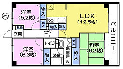 都民住宅ドルチェ西新井[4階]の間取り