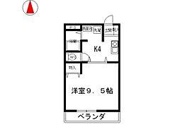 コスモ21[305号室]の間取り