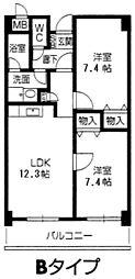 甲子園 ガーデンハウス[3階]の間取り