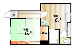 サンハイツ白菊[2階]の間取り