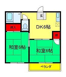 たんぽぽハイツ[2階]の間取り