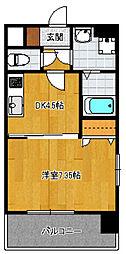 ピュアドームティアラ大手門[301号室]の間取り