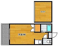 モナーク西片江[2階]の間取り