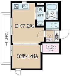 アルム西新宿 2階1DKの間取り