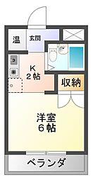 岩津マンション[4階]の間取り