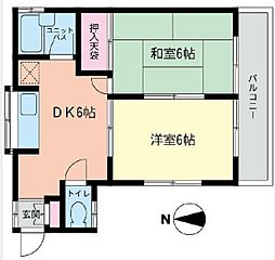[一戸建] 神奈川県横浜市港北区日吉1丁目 の賃貸【/】の間取り
