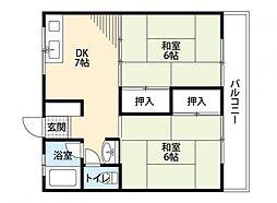高田コーポラス[203号室]の間取り
