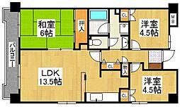 G−ONE姪浜駅南EAST[211号室]の間取り