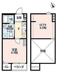 南海線 湊駅 徒歩1分の賃貸アパート 1階1Kの間取り