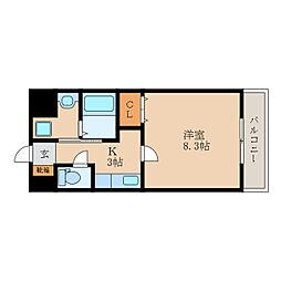 滋賀県東近江市小池町の賃貸マンションの間取り
