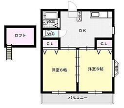 グリーンウィンド飯倉[107号室]の間取り