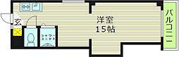サンライズ和歌山 4階ワンルームの間取り