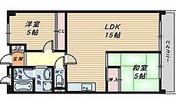 パークテラス北花田[3階]の間取り