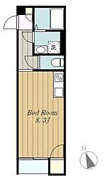 東急田園都市線 つきみ野駅 徒歩3分の賃貸アパート 3階ワンルームの間取り