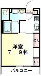 東武東上線 新河岸駅 徒歩3分の賃貸マンション 1階1Kの間取り