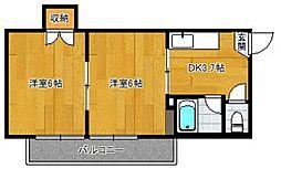 シャモニー井尻2[201号室]の間取り