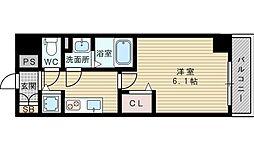 プレサンス新大阪ザ・シティ[4階]の間取り