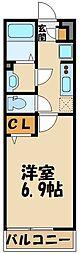 西武池袋線 秋津駅 徒歩3分の賃貸アパート 3階1Kの間取り