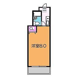Osaka Metro御堂筋線 新金岡駅 徒歩5分の賃貸マンション 4階1Kの間取り