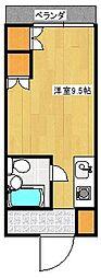 ユニバーシティ櫛原[206号室]の間取り
