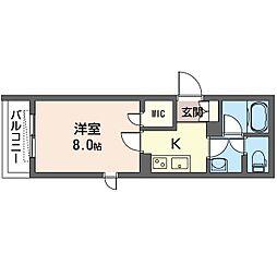 仮)豊島区南池袋4丁目シャーメゾン 2階1Kの間取り